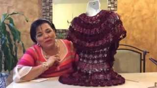 getlinkyoutube.com-Rueda - Tejido rápido en gancho con Red Tule - Tejiendo con Laura Cepeda