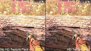 getlinkyoutube.com-Far Cry Primal HD Texture Pack Vs No Texture Pack Graphics Comparison