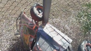 getlinkyoutube.com-Why You need Killer RC Super Bee Kill Switch Losi 5ive-T Stuck in Fence Crash