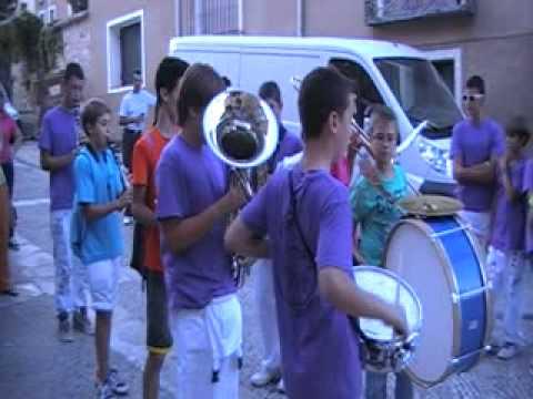 Los parapachumba. Concentración de charangas fiestas de Brihuega 12 de agosto de 2012