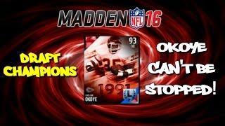 getlinkyoutube.com-Madden 16 Draft Champions   CHRISTIAN OKOYE CAN'T BE STOPPED!