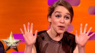 getlinkyoutube.com-Emilia Clarke Watched Game Of Thrones Nude Scene With Her Parents  - The Graham Norton Show