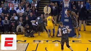 Stephen Curry injures ankle early in first quarter of Warriors vs. Spurs | ESPN