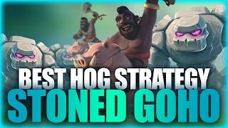 getlinkyoutube.com-One Of Best Hog Strategy   Stoned Goho (3 Golems + Hogs)   Clash Of Clans