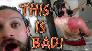 A SERIES OF PAINFUL EVENTS | David Laid Vs Steve Cook Arm Wrestle | Wrecking A Drone & SUNBURN!
