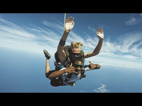 SKYDIVING AND SWIMMING WITH DOLPHINS!
