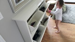 getlinkyoutube.com-كيفية عمل جزامة من الكرتون - How to make a shoes cabinet from cartoon