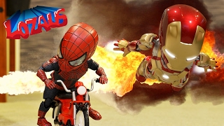 getlinkyoutube.com-BABY SPIDERMAN & The IRONMAN BABYS STOP MOTION VIDEO