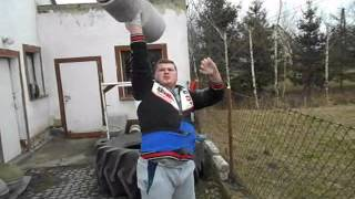 getlinkyoutube.com-Mariusz - Trening Strongman - 01.03.13