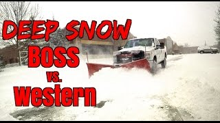 Plow Review  Boss Vs Western snow plow