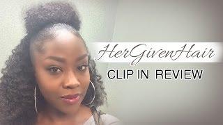 getlinkyoutube.com-How to do a Half/Up Half Down|Bun Style| HerGivenHair Review