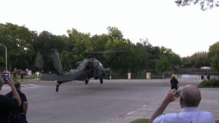 getlinkyoutube.com-AH-64D Apache Longbow Helicopter Landing for Park Cities Fourth of July Celebration