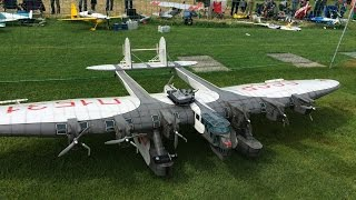 getlinkyoutube.com-Huge Rc Kalinin K-7 CCCP,6m Wingspan and 7 Motors at Kulmer Air Show 2014 Pilot is Rainer Mattle