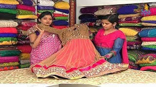 getlinkyoutube.com-Heavy Work Dresses and Half Sarees