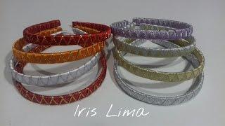 getlinkyoutube.com-Como fazer tiara/arco trançado com fita de cetim