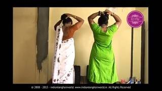 getlinkyoutube.com-Hair play & Hairstyling Video of Two Real Life Rapunzels Deepa & Neelam
