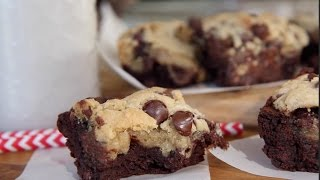 getlinkyoutube.com-How to Make Chocolate Chip Cookie Brownies| Easy Homemade Recipe