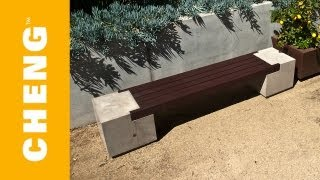 getlinkyoutube.com-Make a Concrete and Wood Bench with CHENG Outdoor Concrete Mix and 2x4's
