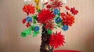getlinkyoutube.com-Как сделать искусственные цветы. Красивая идея