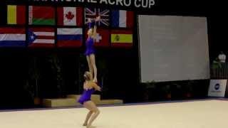 getlinkyoutube.com-Acrobatic Gymnastics Maia International Acro Cup - GBR Spelthorne W2 Youth