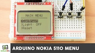 getlinkyoutube.com-Arduino Tutorial: Menu on a Nokia 5110 LCD Display Tutorial