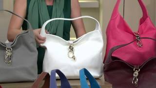 getlinkyoutube.com-Dooney & Bourke Leather Hobo with Logo Lock and Accessories with Jayne Brown