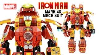 getlinkyoutube.com-Awesome Iron Man Mark 46 Mechanical Suit LEGO KnockOff Building Set