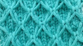 getlinkyoutube.com-Knit with eliZZZa * Mesh pattern with Slip Stitches * Knitting Stitch