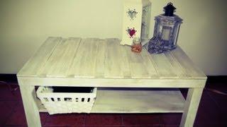 getlinkyoutube.com-DIY - Tavolo da salotto Shabby Chic / DIY Shabby chic coffee table   Ste pi