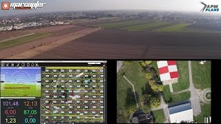 """getlinkyoutube.com-""""APM:Plane"""" - Plan and execute a full automatic mission for ortophoto"""