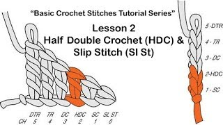 "Learn How To Crochet~Lesson 2 of 6 of The ""Basic Crochet Stitches Tutorial Series"""