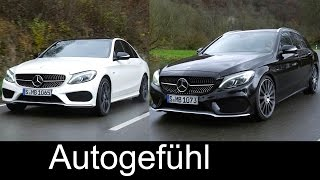getlinkyoutube.com-All-new Mercedes C-Class C450 AMG sedan vs estate driving shots exterior interio - Autogefühl