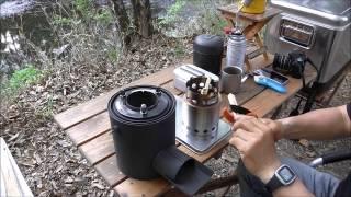 getlinkyoutube.com-ソロストーブと自作ミニロケットストーブを使ってみた。前編 月川荘キャンプ場  rocket stove