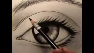 getlinkyoutube.com-Resim Dersi - Gerçek Göz Nasıl Çizilir