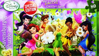 getlinkyoutube.com-TINKER BELL Disney Fairies PUZZLE Game Rompecabezas Ravensburger De Kids Learning Play Set Toys