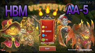 getlinkyoutube.com-Castle Clash HBM AA 5 Victory First Attempt