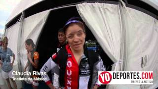 Claudia Rivas en el ITU World Triathlon Series en Chicago