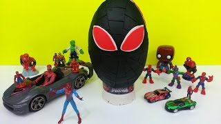 getlinkyoutube.com-Spiderman Play Doh Surprise Egg Marvel Amazing Toys