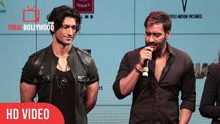 Ajay Devgn Reaction On Woking With Vidyut Jammwal | Baadshaho Official Trailer Launch