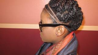 getlinkyoutube.com-Natural Hair | Winter Protective Style Two Strand Twist Updo
