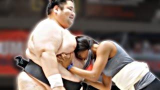 Regular People Wrestle Sumo Champions