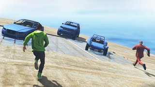 getlinkyoutube.com-ROOFTOP DERBY EXTREME! (GTA 5 Funny Moments)