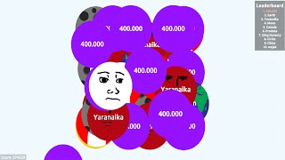 getlinkyoutube.com-462,438 PUNTOS!! SUPER ÉPICO - Agar.io Gameplay
