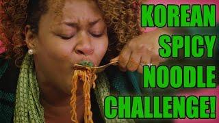 getlinkyoutube.com-Korean Spicy Noodle Challenge! - GloZell