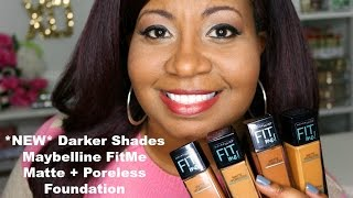 getlinkyoutube.com-*New Darker Shades* (Swatches & Demo) Maybelline FitMe Matte + Poreless Foundation