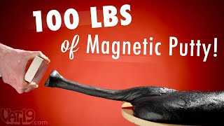 getlinkyoutube.com-100 lbs (45 kg) of Magnetic Thinking Putty
