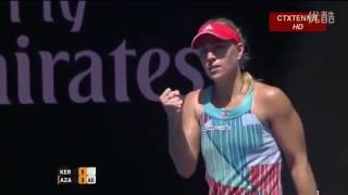 getlinkyoutube.com-Angelique Kerber VS Victoria Azarenka Highlight 2016 Australian Open QF