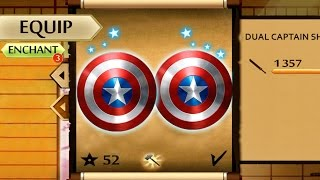 getlinkyoutube.com-Shadow Fight 2 New Powerful Dual Captain America's Shield
