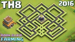 getlinkyoutube.com-Clash of Clans - TH8 Farming Base 2016 [Dark Elixir Farming Protection] Town Hall 8 (V1)
