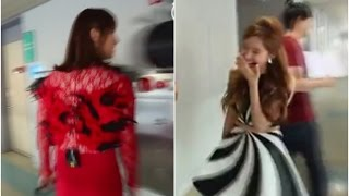 Seohyun, BoA, SNSD reaction to Changmin in dress red